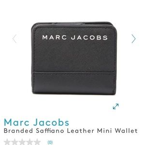 NWT MARC JACOBS BRANDED SAFFIANO Leather wallet